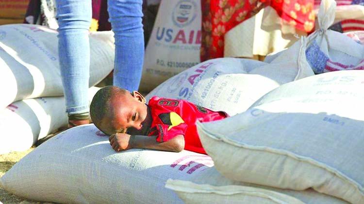 UN aid chief said there is  famine in Ethiopia