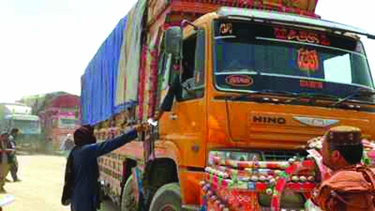 Double tax and bandits on the Pakistan-Afghan trade route
