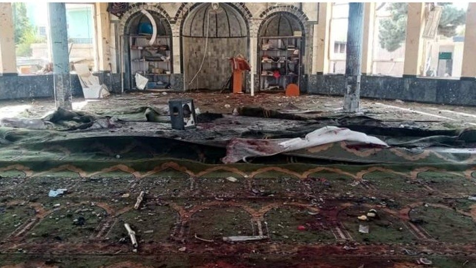 Suicide attack on Afghan mosque kills at least 50