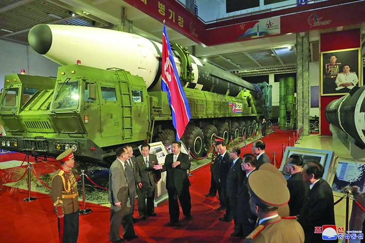 Kim vows to build 'invincible' military while slamming US