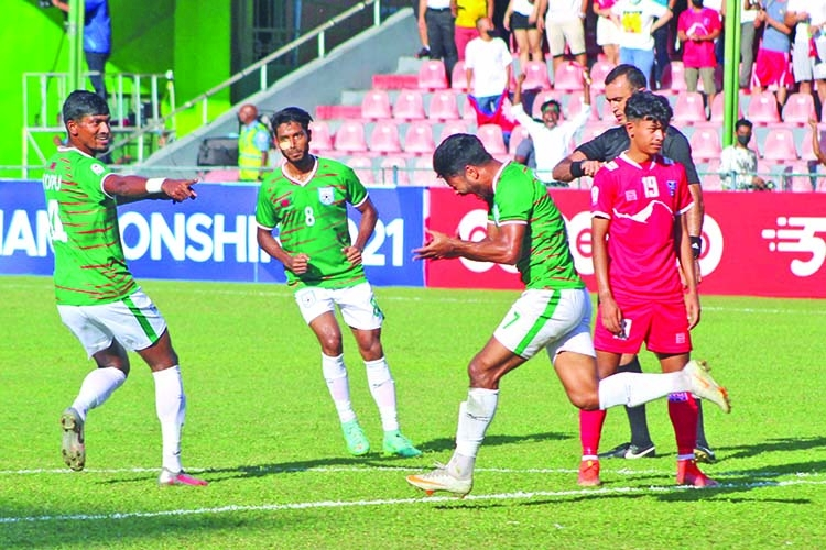 Disputed penalty helps Nepal to eliminate Bangladesh