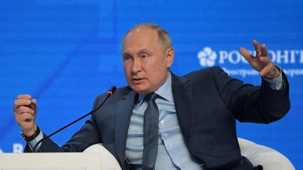 Putin denies weaponizing energy amid Europe crisis