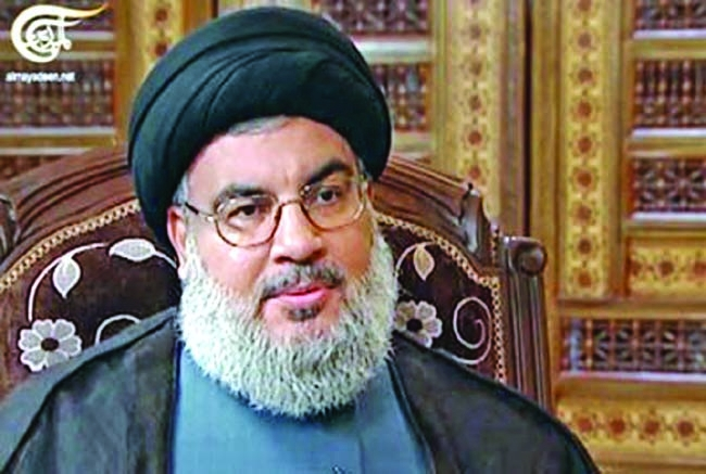 Hezbollah chief vows to keep up Syria fight