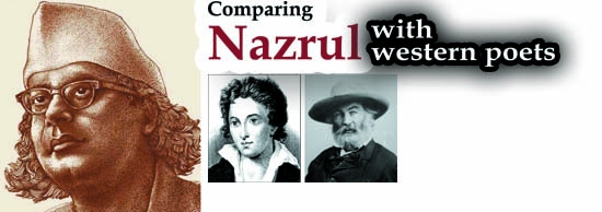 Comparing Nazrul with  western poets
