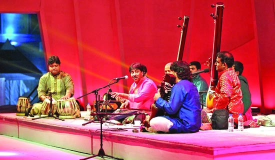 Third night's melodious classical melange at army stadium