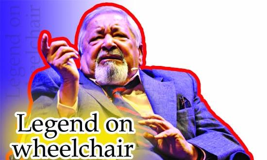 Legend on wheelchair