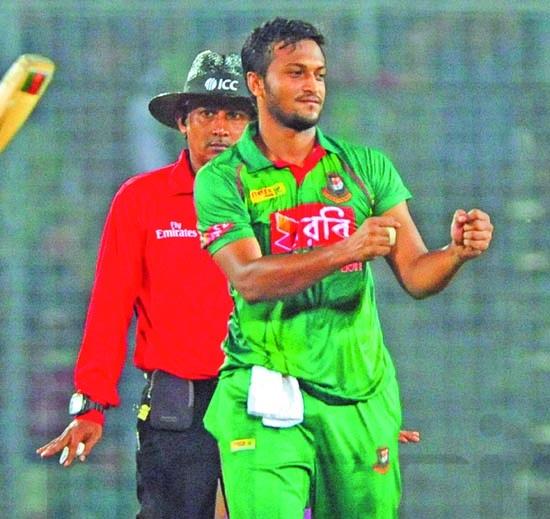 Shakib fined 20% of match fee