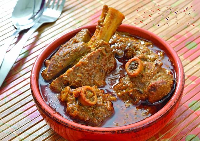 Onion & Garlic less mutton curry