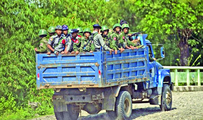 Myanmar detains police over Rohingya abuse video | The Asian Age