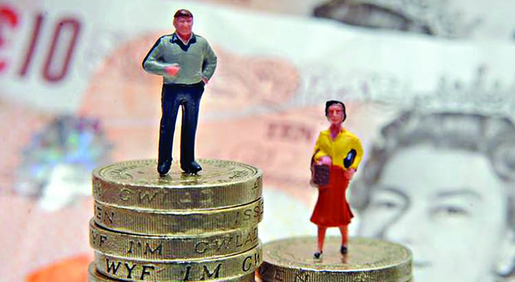 The gender pay gap is  narrowing