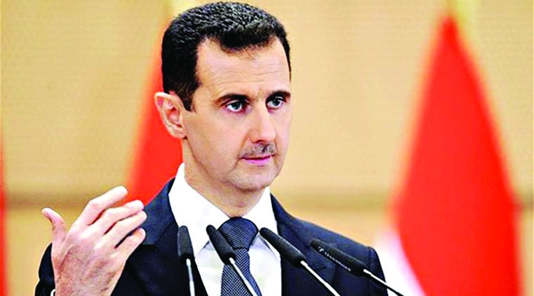 Syrian forces on road  to victory, says Assad
