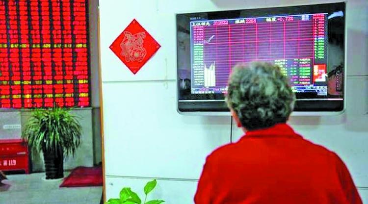 Stocks, dollar fall, sterling reels