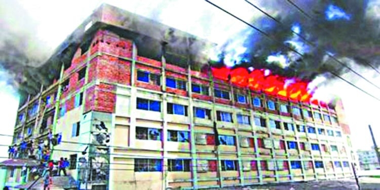 Garments factory gutted in fire