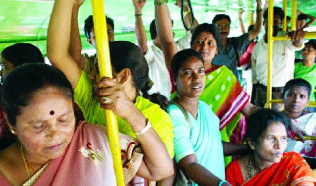 Women harassed in public transportation