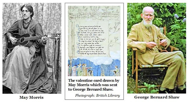 A valentine card: May Morris sent to George Bernard Shaw