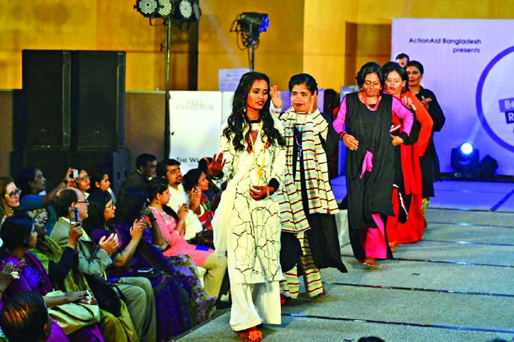 Acid survivors hit catwalk