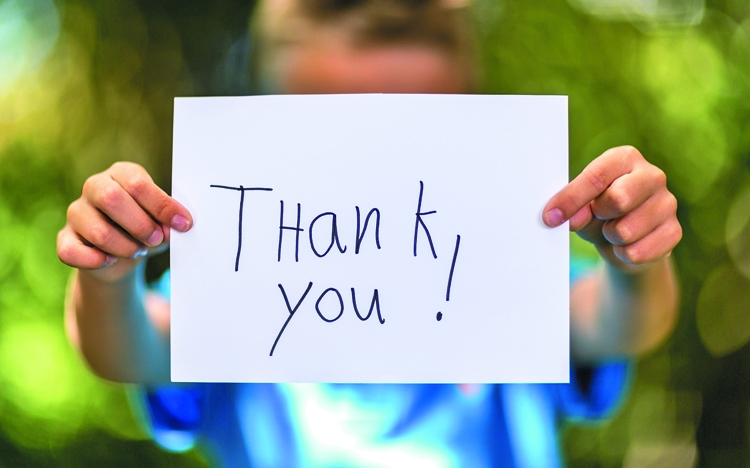 Sincere ways to say, thank you