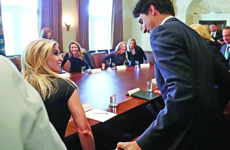Trudeau hosts Ivanka for show on Canadian welcome