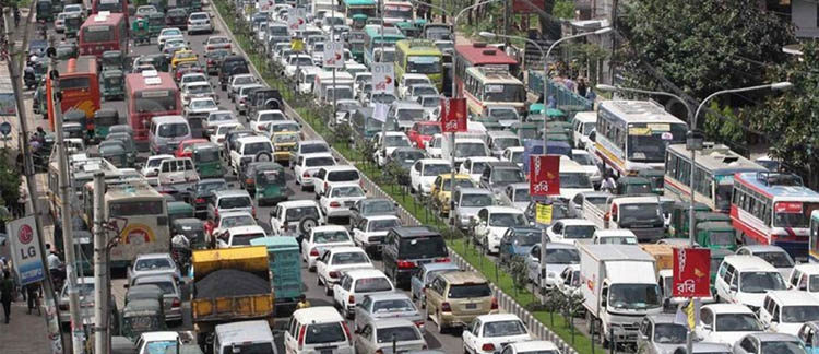 Traffic jam in Dhaka, its solution