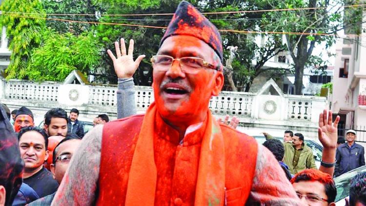 Trivendra Singh sworn in as CM of Uttarakhand
