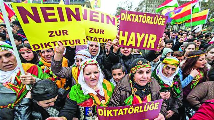 Kurds hold anti-Erdogan protest in Frankfurt