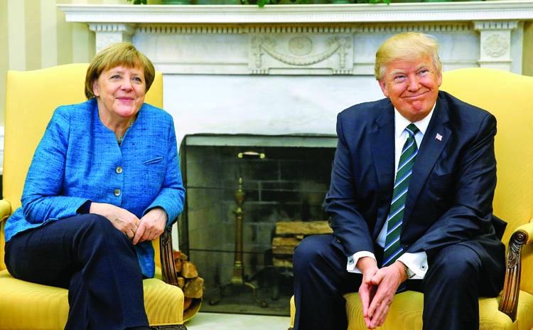 Angela Merkel studied Trump Playboy profile before visit!