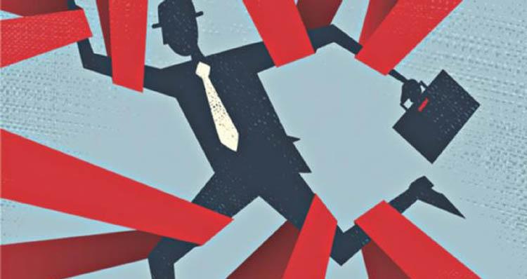 From monotonous trains to  bureaucratic knots