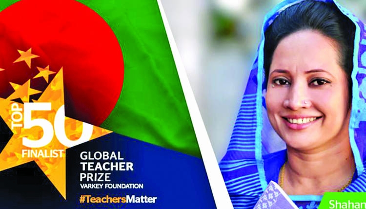Shahnaz among 50 'Global Teachers'