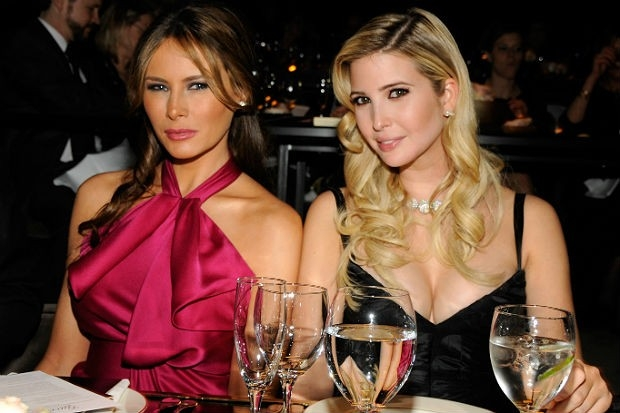 Melania Trump Is Twinning With Ivanka in Navy Dress