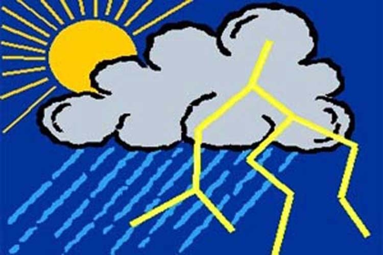 Rain or thundershowers likely tomorrow