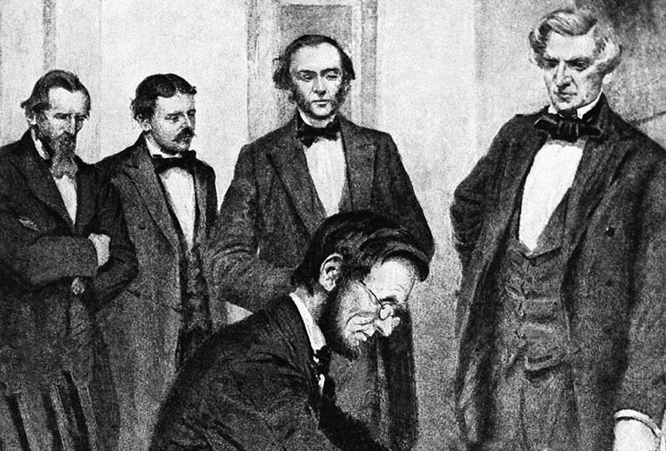 Lincoln signs the Homestead Act