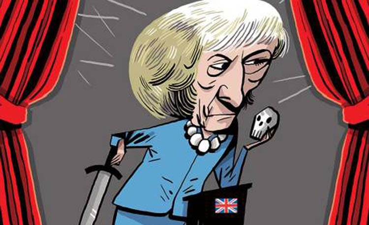 May's first year, a tragedy in five acts