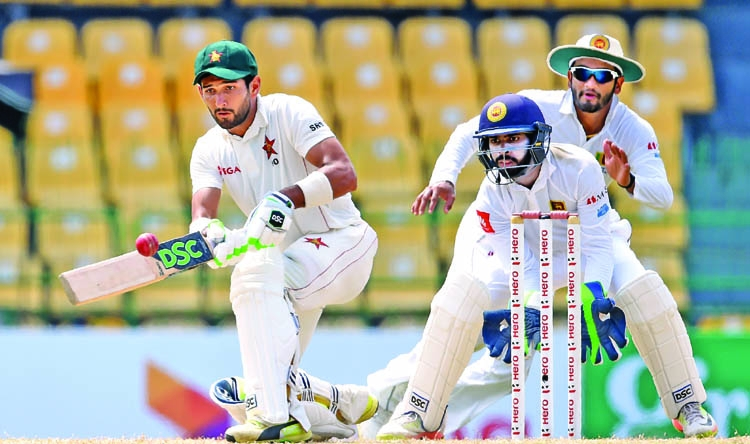 Raza puts Zimbabwe on top in Sri Lanka Test