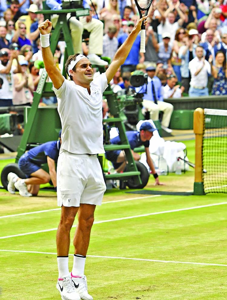 Federer wins 8th title, Cilic bid ends in tears