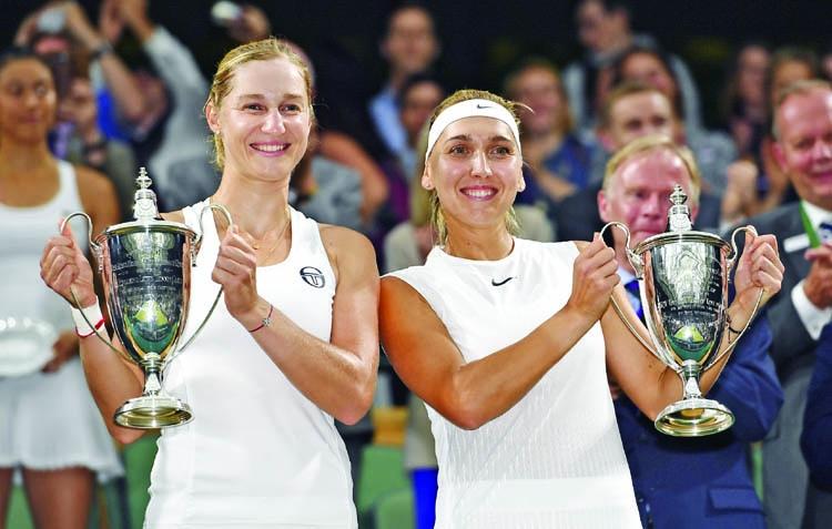 Makarova, Vesnina win women's doubles title