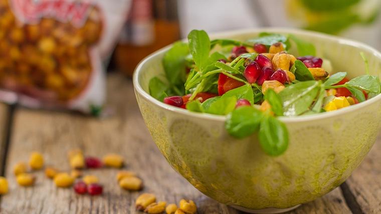 Corn and pomegranate kachumber recipe