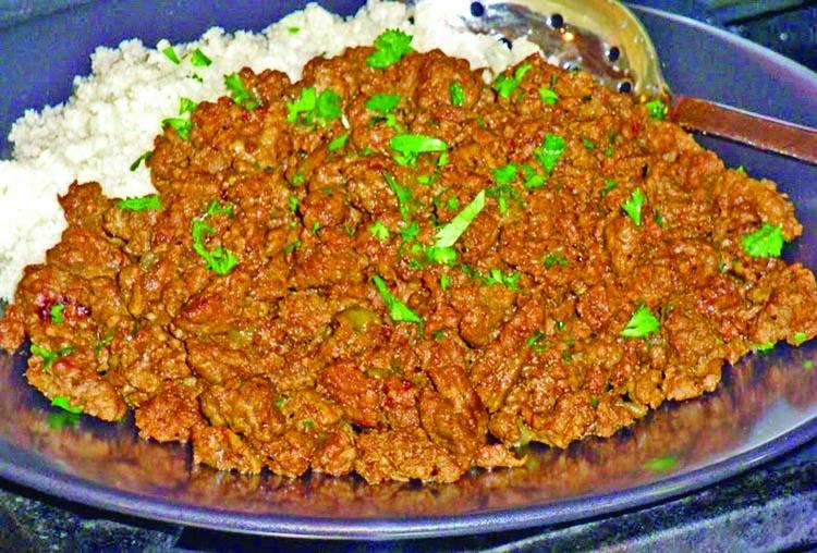 Beef keema curry