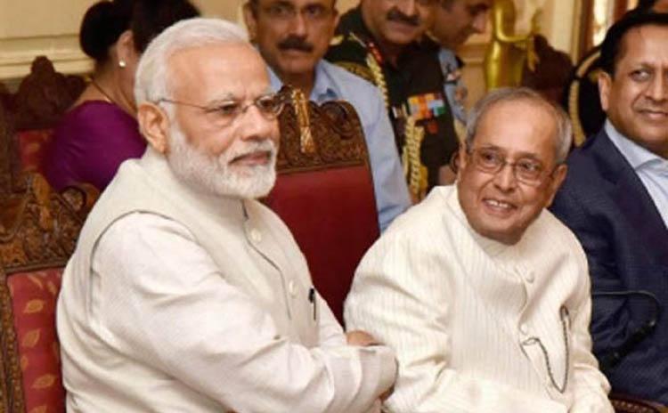 Narendra Modi's farewell letter to Pranab Mukherjee…