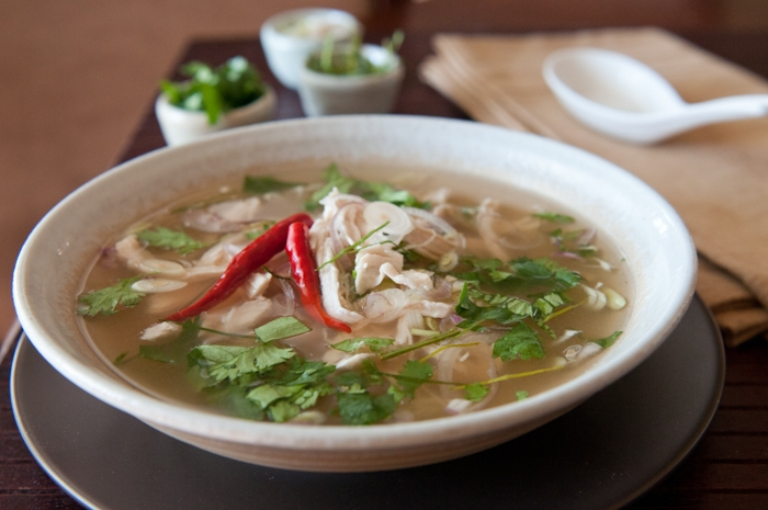 Thai clear soup with sweet and sour chile