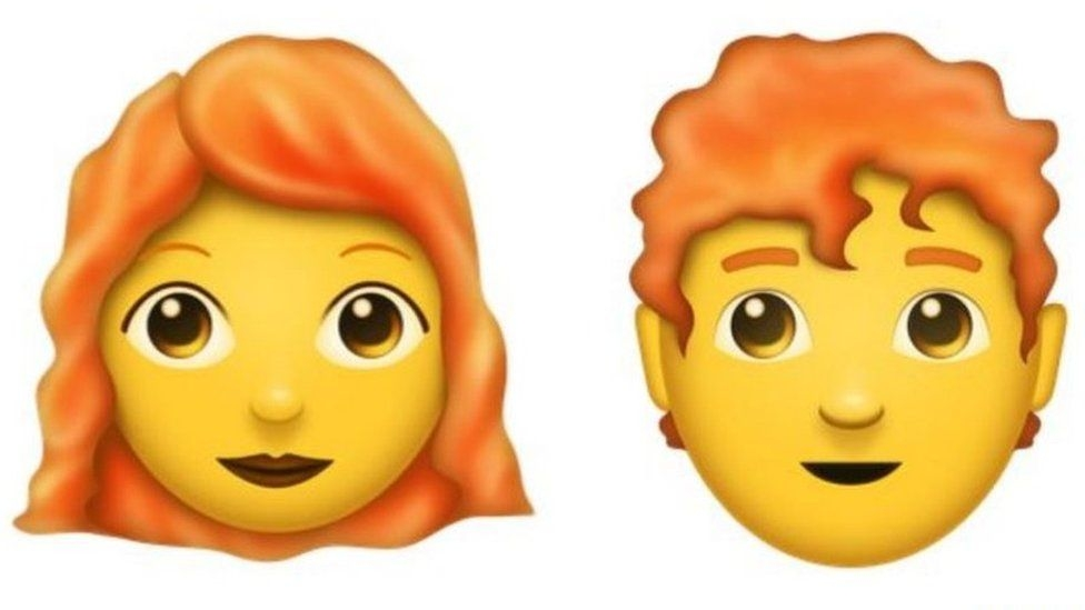 A ginger haired emoji is coming in 2018