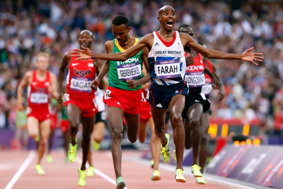 Farah in 5000m final