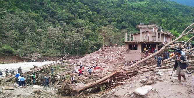 At least 25 dead in Nepal landslides, floods