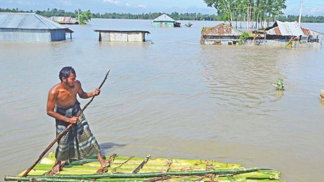 Upstream water, rain triggers flood in north, northeast dists