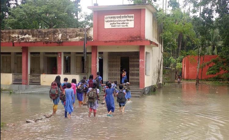 Heavy rain floods primary  schools in Gopalganj