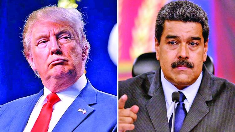 Trump threatens military action in Venezuela