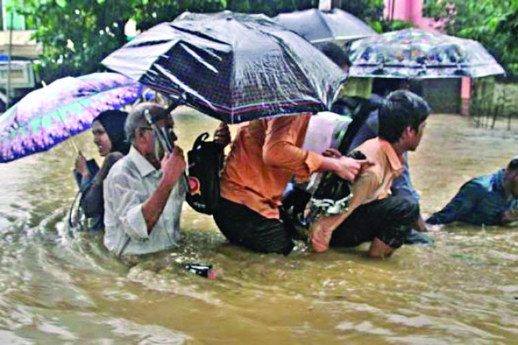 Chittagong collapses again by rain