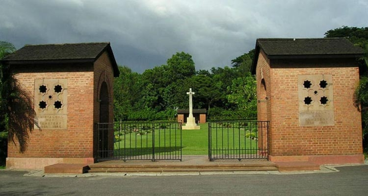 Burial ground of the soldiers: Chittagong war cemetery