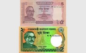 Fewer Tk 2 and Tk 5 banknotes