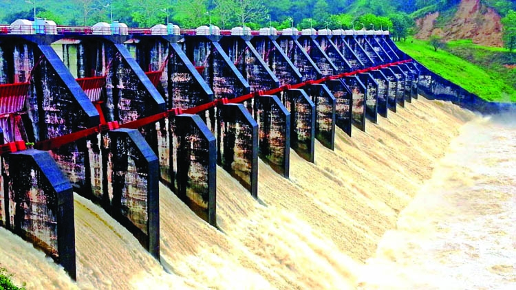 16 spillways of the Kaptai  Dam opened recently