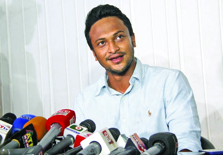 Shakib breaks silence